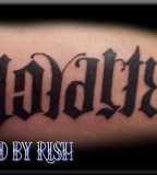 Ambigram Loyalty Respect Tattoo Design