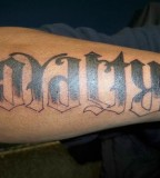 Loyalty And Respect Ambigram Tattoo Ideas