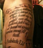New Design Tattoo Rib Qoute