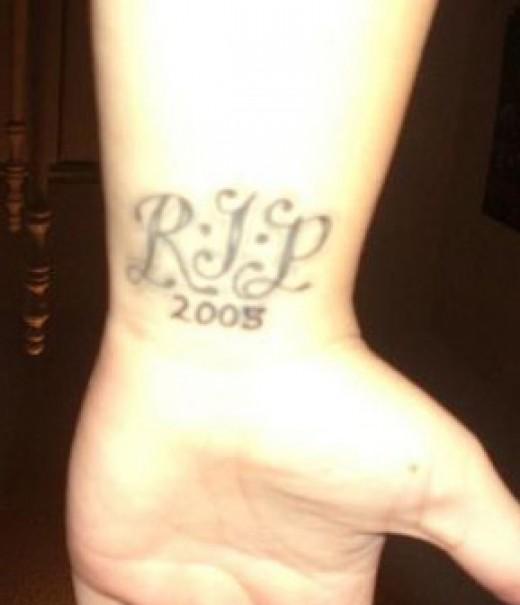 In Loving Memory Memorial Rip Tattoos PIctures Gallery