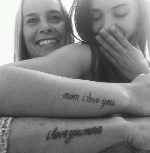 Mom and Child Quotes Tattoo Ideas
