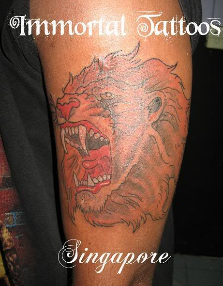Roaring Lion Tattoo Simbol of Freedom