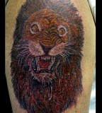 Roaring Lion Head Mystic Art Tattoo Gallery