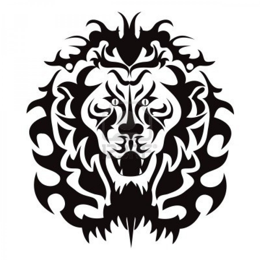 The Graphic Pattern Of Lion Head Tattoo