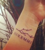 Roman Numeral Tattoo Design On Wrist