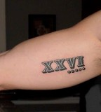 26 Roman Number As Tattoo Design On Forearm