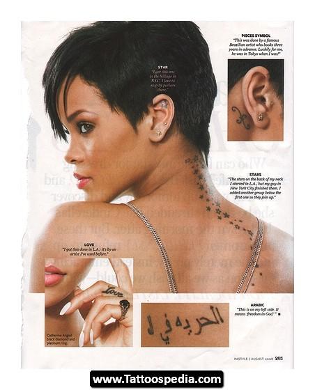 Roman Numeral Body Tattoos On Rihanna - | TattooMagz ...