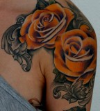 Roses Flowers Shoulder / Upper-arms Tattoo Design - Flower Tattoos