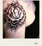 Gothic Rose Flower Tattoo Design for Women by Mrsivy