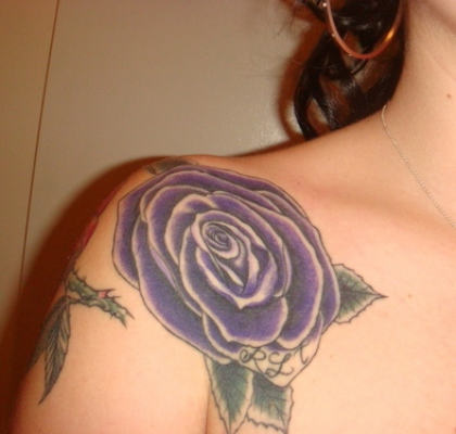 Purple Rose Flower Tattoo Design Ideas for Women – Flower Tattoos