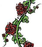 Rose Vine Tattoos Designs For Women Thorn Vines