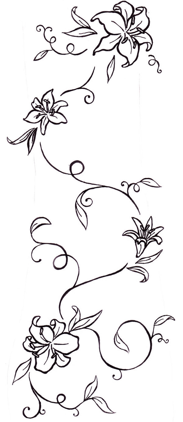 4f2082c8b Flower Tattoos Lily And Vine Tatt Tattoo - | TattooMagz › Tattoo ...