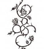 Nice Rose Vines Tattoos
