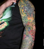Grim Reaper And Rose Vines Tattoos