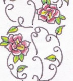 Rose Vine Tattoo With Roses Lower Back Rose