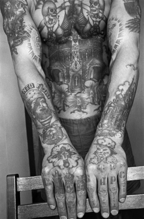 Symbols Of A Life Of Crime The Fading Tattoos On Russias