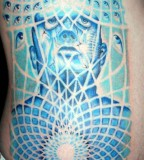 Tattoo By Ryan Face Eyes Sacred Geometry