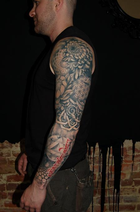 Tattoos David Allen Sacred Geometry Sleeve