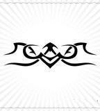 Black Ink Sagittarius Tribal Symbol Tattoo Sketch Design