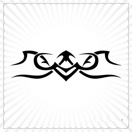 Black Ink Sagittarius Tribal Symbol Tattoo Sketch Design
