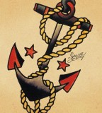 Sailor Jerry Anchor Image Tattoo Design