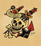 Sailor Jerry Skull Crossbones Anchor Tattoo