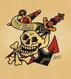Sailor Jerry Skull Crossbones Anchor Tattoo