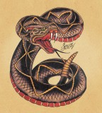 Sailor Jerry Snake Tattoo Design