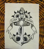 Sink Or Swim Sailor Jerry Style Anchor Tattoo Ideas