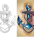 Traditional Old School Tattoos - Sailor Anchor Design