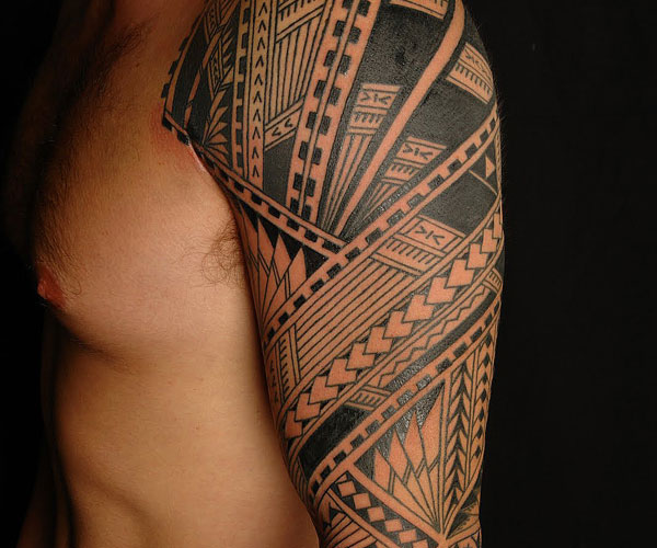 Cool Samoan Sleeve Tattoo Slodive Design
