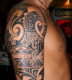 Marvelous samoan Full Sleeve Tattoos image