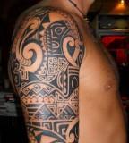 Marvelous samoan Full Sleeve Tattoos image