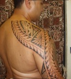 Master Samoan Half sleeve shoulderback Tattoo design