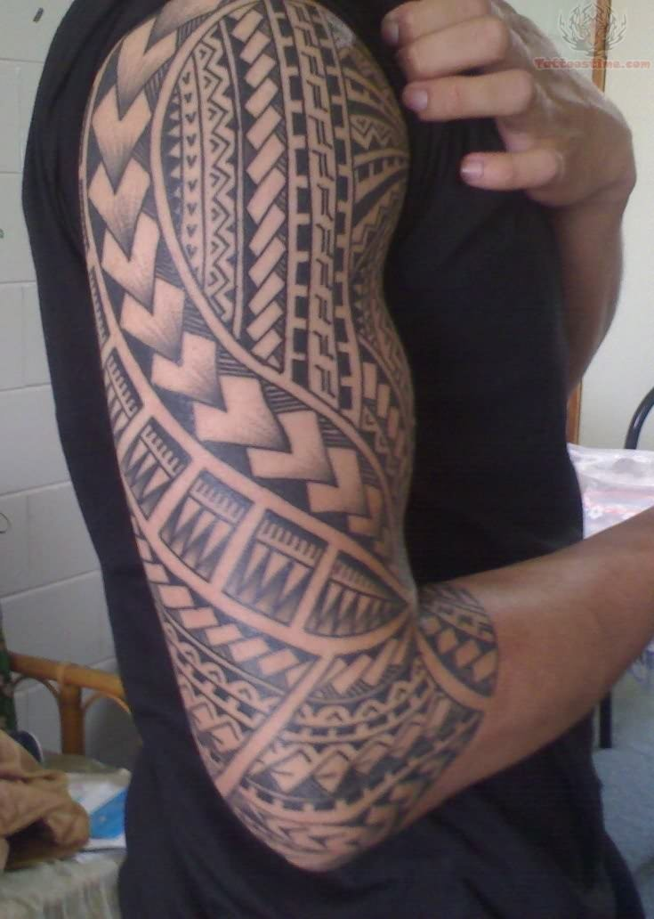 Wonderful Samoan Sleeve Tattoo inspiration