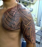 Modern Samoan Sleeve Tattoos inspirations