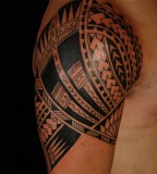 Awesome Samoan Sleeve Tatto on upper arm