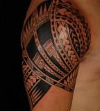 Awesome Samoan Sleeve Tatto on upper arm