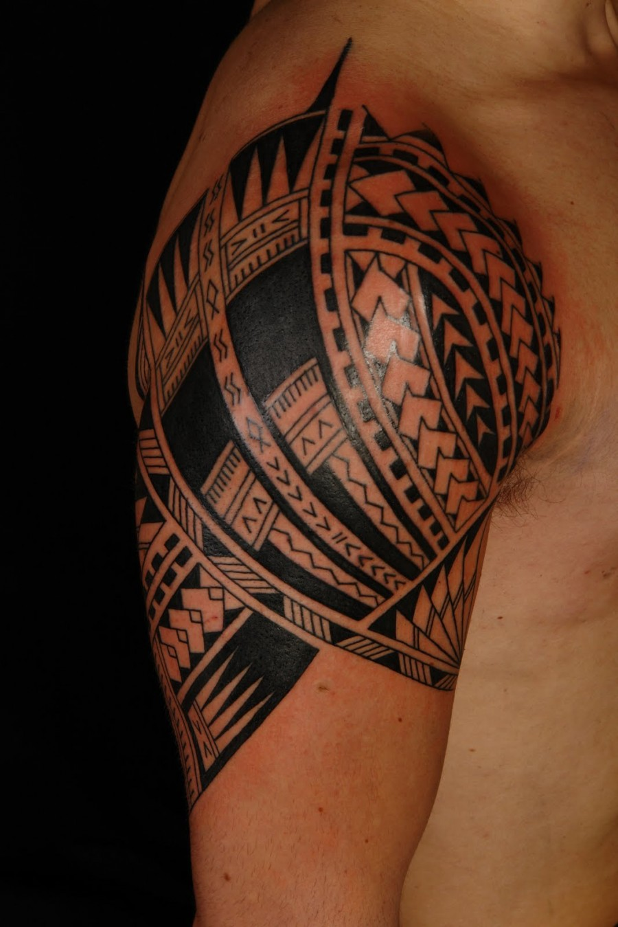 e2a1304e9b Awesome Samoan Sleeve Tatto on upper arm - | TattooMagz › Tattoo ...