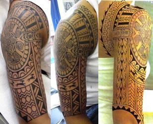 splendid samoan sleeve tatto tribe models