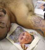 Pope Face Tattoo Designs for Men