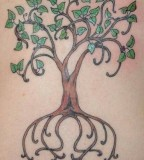 Art Nouveau Style Tree of Life Tattoo Design
