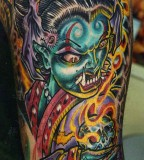 San Francisco Tattoo - Fiery Mythical Monster Tattoo Design