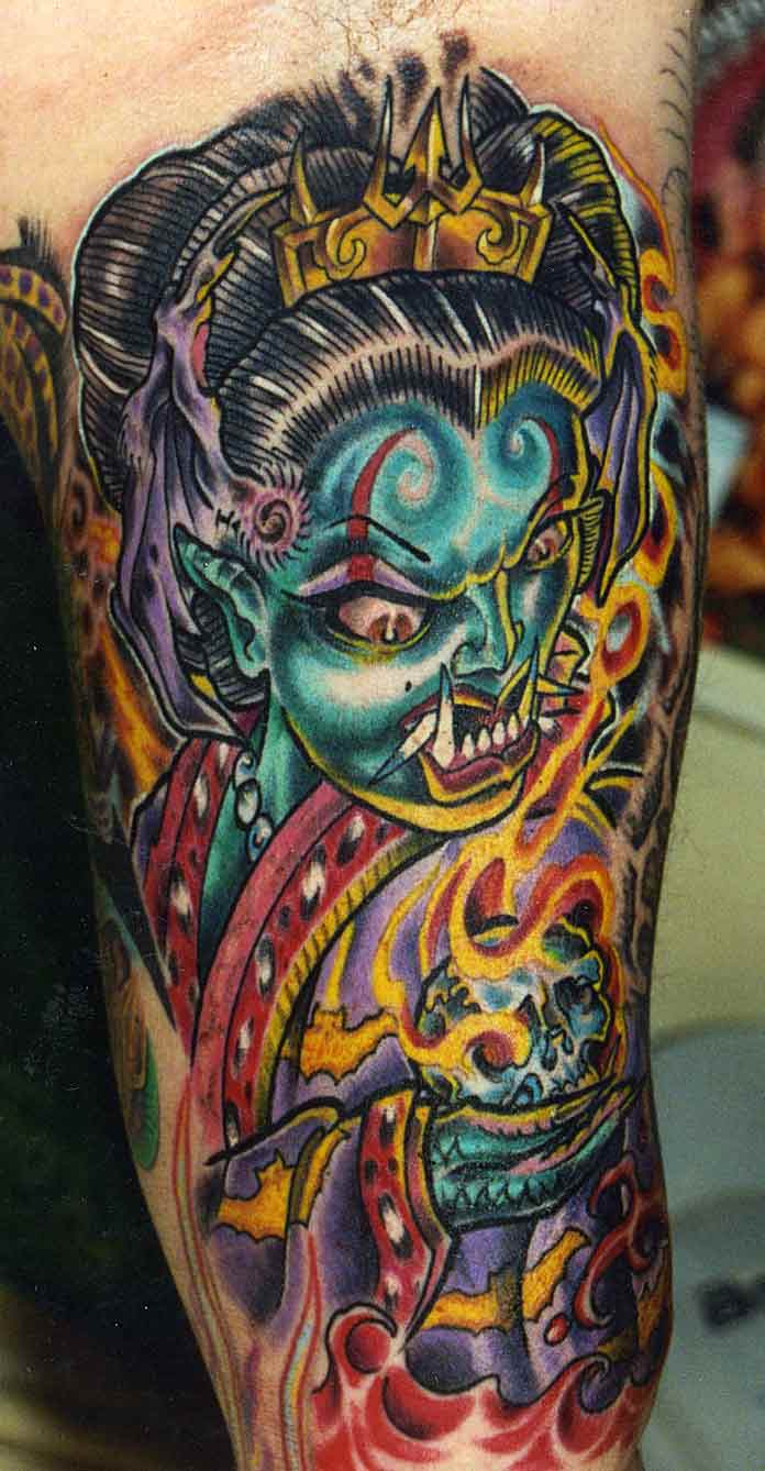 San Francisco Tattoo – Fiery Mythical Monster Tattoo Design