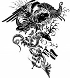 Mythical Goddes and Mythical Animals Tattoo Art Designs