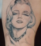 San Francisco Marylin Monroe Tattoo Design - Celebrity Tattoos