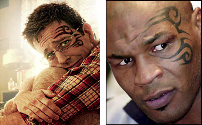 Mike Tyson's Facial Tattoo in Other Movie