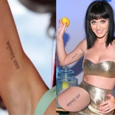 Katy Perry Tattoos Sanskrit and Meanings