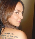Esha Deol Sanskrit Tattoos Pictures