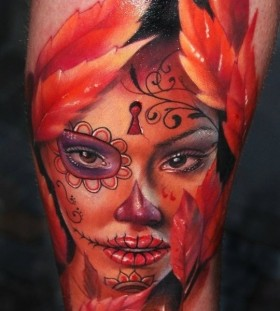 santa-muerte-autumn-tattoo